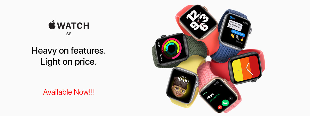 Apple Watch SE (GPS) Available Now!! Order Online at at iStore, Accra Mall and iStore Kumasi City Mall, Ghana, request a Quote right now